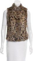 Joie Fur Cheetah Print Vest