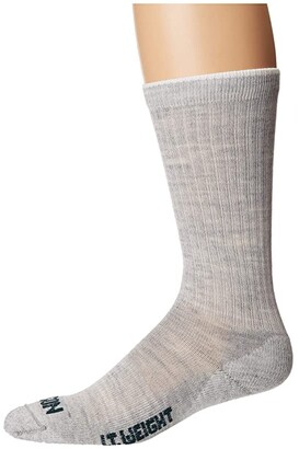 Filson Lightweight Traditional Crew Sock (Gray Heather) Crew Cut Socks Shoes