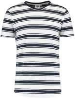 Urban Classics Double Stripe Basic Tshirt Offwhite/navy