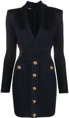 Balmain Fine-Knit Fitted Dress