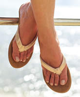 Roxy Women's Sandals ROSE - Rose Gold Metallic Vickie Flip-Flop - Women