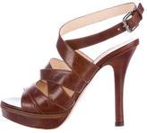 Prada Multistrap Leather Sandals
