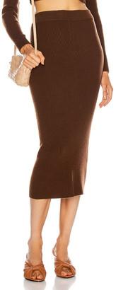 Andamane Eulalia Skirt in Dark Brown | FWRD