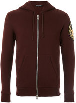 Balmain gold thread patch hoodie - men - Cotton/Brass/copper - S