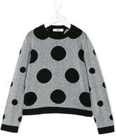 MSGM polka dot knitted top