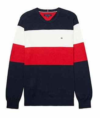 Tommy Hilfiger Boys Adaptive Sweater with Hook and Loop Fastener at Shoulders