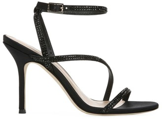 Via Spiga Pavlina Embellished Satin Sandals