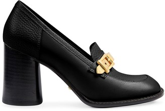 Gucci Chain-Detail Mid-Heel Moccasins