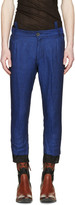 Haider Ackermann Navy Linen Trousers