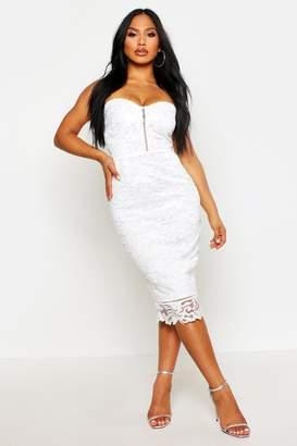 boohoo Boutique Embroidered Organza Midi Dress