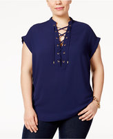 MICHAEL Michael Kors Size Lace-Up Top