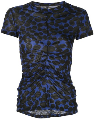 Proenza Schouler Painted Dot Cinched Short Sleeve T-Shirt