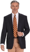 Brooks Brothers Madison Fit Blue Plaid with Brown Deco Saxxon® Wool Sport Coat
