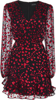Saloni Alya Printed Silk-Blend Mini Dress