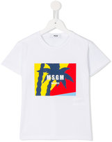 MSGM logo print T-shirt - kids - Cotton - 8 yrs