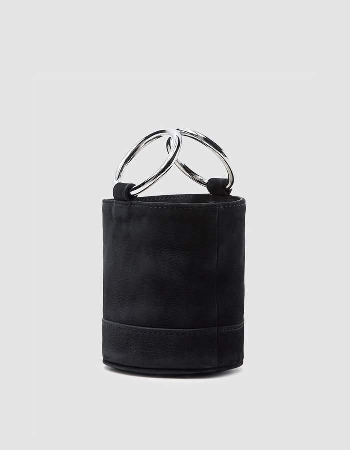 Simon Miller Bonsai 15 cm Bag in Black Nubuck