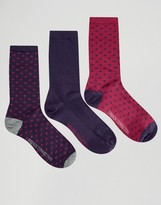 French Connection 3 Pack Mini Polka Dot Socks in a Box