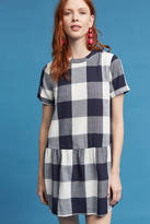 Maeve Halle Drop-Waist Gingham Dress