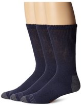 Dockers 3 Pack Cushion Comfort Non Binding Basic Cotton Crew Socks