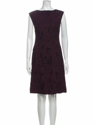 Christian Lacroix Lace Pattern Knee-Length Dress Purple
