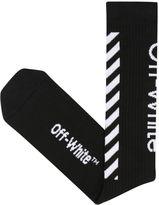 Off-White Diagonals Cotton Socks