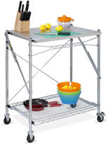 Honey-Can-Do Stainless Steel Folding Urban Work Table