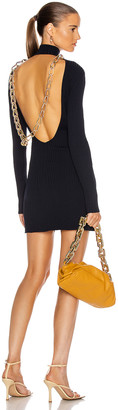 Dion Lee Lustrate Chain Mini Dress in Midnight | FWRD