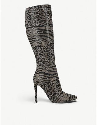 Steve Madden Winner animal-print leather knee-high boots