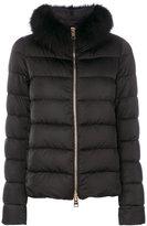 Herno fox fur trim jacket - women - Fox Fur/Polyester/Polyimide - 42