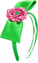 Mi Mi Sol - bow detail headband - kids - Polyester/PVC - One Size