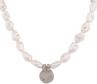 Carousel Jewels Antique Small Silver & Baroque Pearl Necklace