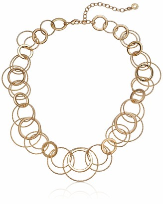 Anne Klein NK 16IN Multi Ring Collar- GLD