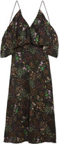 W118 by Walter Baker Eleanor off-the-shoulder floral-print chiffon maxi dress