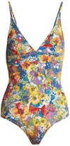 Stella McCartney Floral-print triangle swimsuit