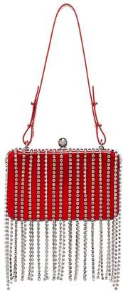 Area crystal tassel clutch bag