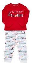 F&F Cuddles Slogan Christmas Pyjamas, Newborn Boy's