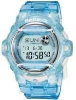Baby-G Women's Digital Blue Resin Strap Watch 43mm