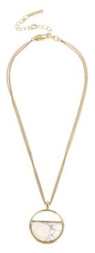 Kenneth Cole New York Gold-Tone Stone Geometric Pendant Necklace