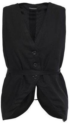 Ann Demeulemeester Belted Two-tone Crepe Vest