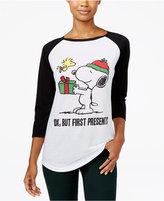 Freeze 24-7 Peanuts Juniors' Presents Graphic Baseball T-Shirt