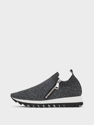 DKNY Women's Azza Slip-on Sneaker - Heather Grey - Size 6
