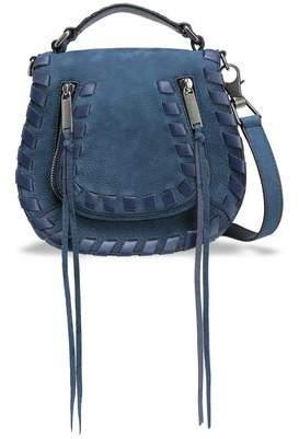 Rebecca Minkoff Leather-trimmed Suede Shoulder Bag
