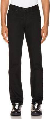 Levi's Made & Crafted Made & Crafted 511 in Black Rinse 1 Selvedge | FWRD