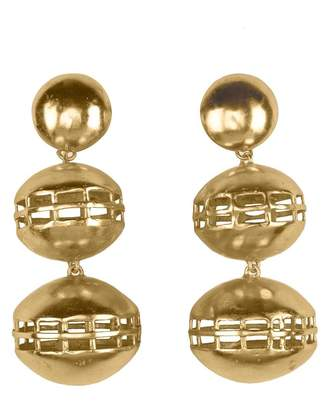 Natori Gold Brass Double Cage Earrings