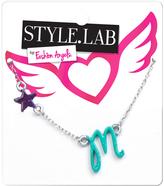 Fashion Angels Blue & Silvertone 'M' Initial Pendant Necklace