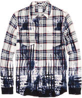 GUESS Men's Wet Ink Plaid Shirt