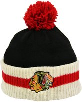 Reebok CCM Stripe Cuffed Pom Knit Toque - Chicago Blackhawks
