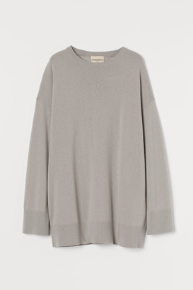 H&M Oversized Cashmere Sweater - Brown