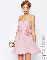 Asos WEDDING Chiffon Mini Dress With Corsage