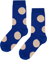 Hansel from Basel Rie Crew Polka-Dot Cotton-Blend Socks